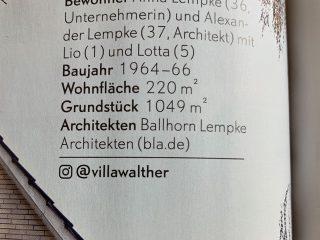 BLA. mit Villa Walther in SCHÖNER WOHNEN